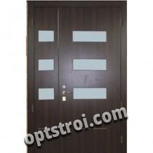 Двустворчатая металлическая дверь. Модель А418-03
