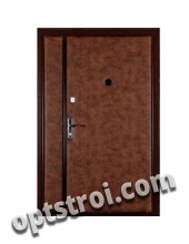 Двустворчатая металлическая дверь. Модель А445-03