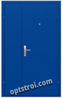 Двустворчатая металлическая дверь. Модель С200-003