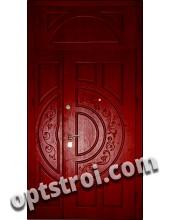 Двустворчатая металлическая дверь. Модель С200-006