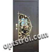 Металлическая дверь с ковкой К10-09
