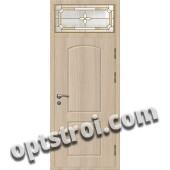 Витражная металлическая дверь в частный дом - ЧД-002