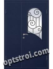 Входная металлическая дверь в коттедж - модель КТ-010