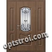 Входная металлическая дверь в коттедж - модель КТ-014