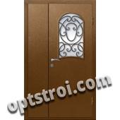 Входная металлическая дверь в коттедж - модель КТ-018