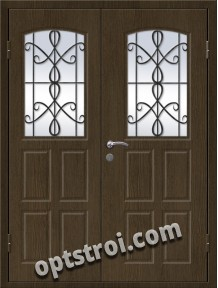 Входная металлическая дверь в коттедж - модель КТ-002
