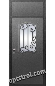 Входная металлическая дверь в коттедж - модель КТ-026