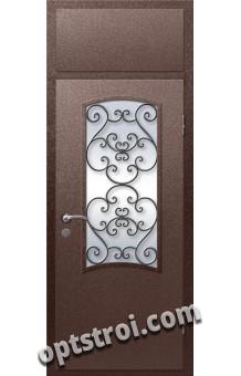 Входная металлическая дверь в коттедж - модель КТ-027