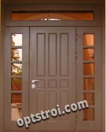 Входная металлическая двустворчатая дверь - модель 889
