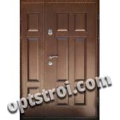 Входная металлическая двустворчатая дверь - модель 893