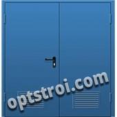 Входная металлическая двустворчатая дверь - модель 895