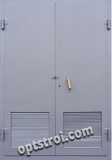 Входная металлическая двустворчатая дверь - модель 898