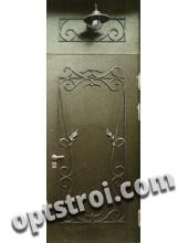 Нестандартная  металлическая дверь. Модель Кастл Браун