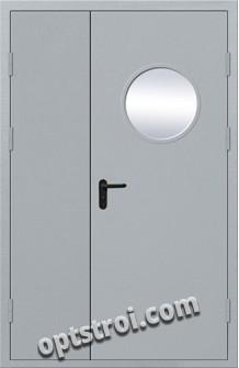 Входная противопожарная двухстворчатая дверь ПР-013
