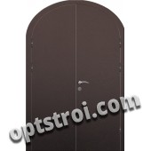 Входная арочная двухстворчатая дверь ПР-017