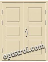 Входная металлическая двухстворчатая дверь ПР-019