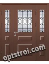Входная металлофиленчатая двухстворчатая дверь ПР-002