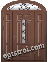 Входная металлическая двухстворчатая дверь ПР-022
