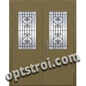 Входная металлическая двухстворчатая дверь ПР-023
