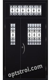 Входная металлическая двухстворчатая дверь ПР-025