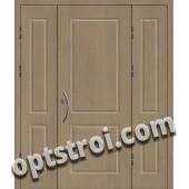 Входная металлическая двухстворчатая дверь ПР-007