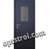 Входная металлическая дверь со стеклом модель - СТ-001