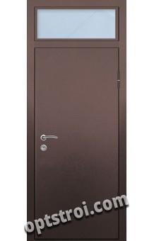 Входная металлическая дверь с стеклопакетом на заказ в С-пб