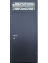 Входная металлическая дверь со стеклом модель - СТ-014