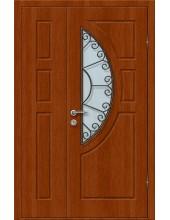 Входная металлическая дверь со стеклом модель - СТ-015