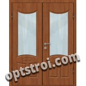 Входная металлическая дверь со стеклом модель - СТ-020