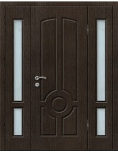 Входная металлическая дверь со стеклом модель - СТ-021