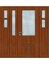 Входная металлическая дверь со стеклом модель - СТ-024