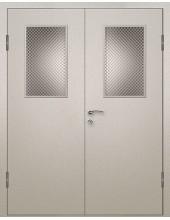Входная металлическая дверь со стеклом модель - СТ-004
