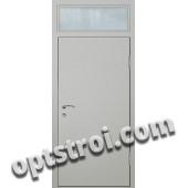Входная металлическая дверь со стеклом модель - СТ-006