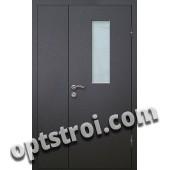 Входная металлическая дверь со стеклом модель - СТ-007