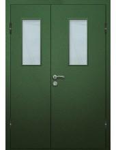 Входная металлическая дверь со стеклом модель - СТ-008