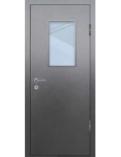 Входная металлическая дверь со стеклом модель - СТ-009