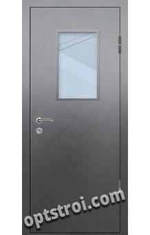Входная металлическая дверь со стеклом на заказ в С-пб