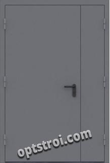 Двустворчатая металлическая дверь. Модель А436-03