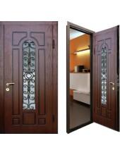 Металлическая дверь с ковкой К10-03