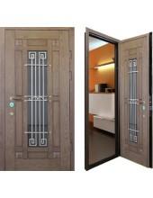 Металлическая дверь с ковкой К10-07