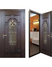 Металлическая дверь с ковкой К10-08