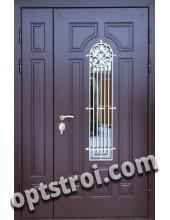 Входная металлическая двустворчатая дверь - модель 888