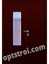 Входная металлическая двухстворчатая дверь для тамбура модель - ДВТ-002