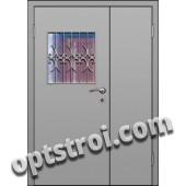 Входная металлическая двухстворчатая дверь для тамбура модель - ДВТ-003