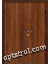 Входная металлическая двухстворчатая дверь для тамбура модель - ДВТ-004