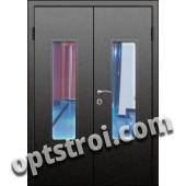 Входная металлическая двухстворчатая дверь для тамбура модель - ДВТ-005
