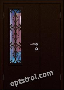 Входная металлическая двухстворчатая дверь для тамбура модель - ДВТ-006