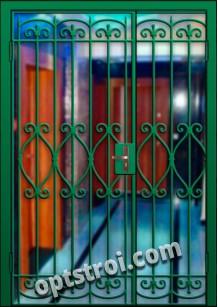 Входная металлическая двухстворчатая дверь для тамбура модель - ДВТ-007