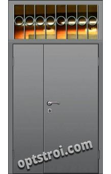 Входная металлическая дешевая тамбурная дверь модель - ТЭ-003